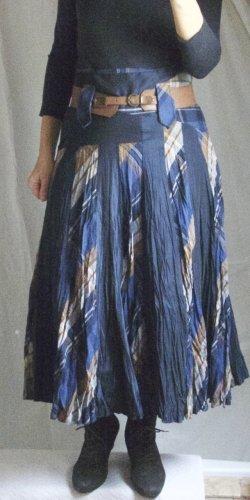 Lisa Campione Falda de talle alto multicolor tejido mezclado