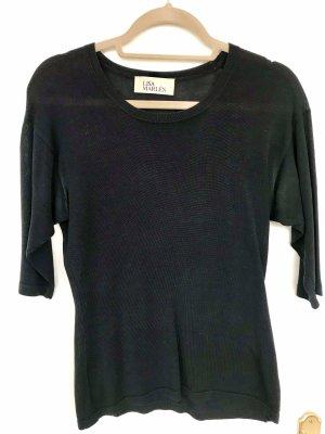 Lisa Marlen Seiden Pullover Gr 38 dunkelblau