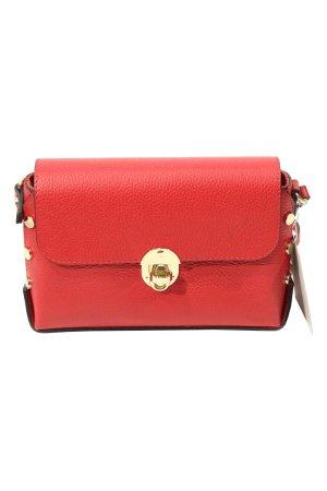 Lisa Minardi Schultertasche in Rot aus Leder