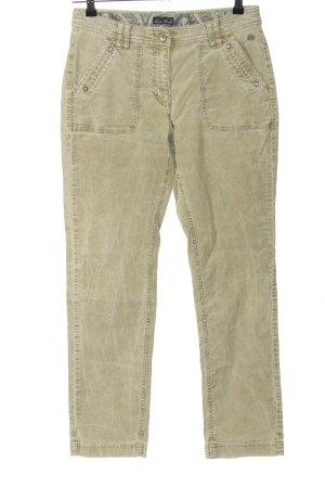 Lisa Tossa Corduroy Trousers khaki casual look