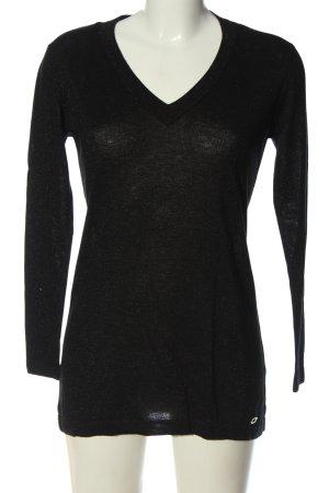 Lisa Tossa Pull en maille fine noir style décontracté
