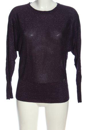 Lisa Tossa Pull en maille fine violet style décontracté