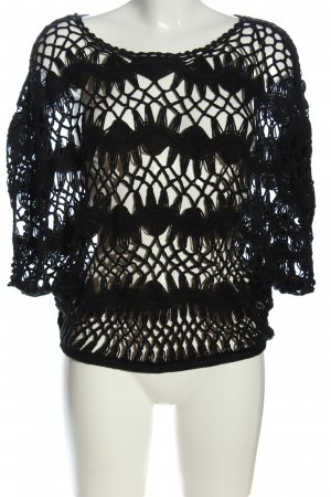 Lisa Tossa Pull en crochet noir style extravagant