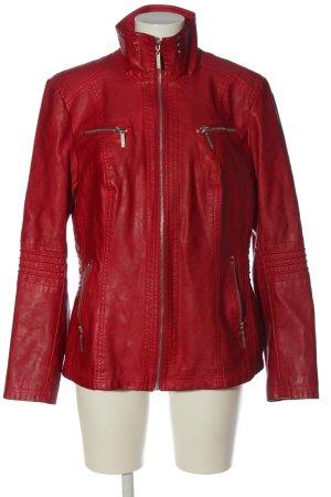 Lisa Tossa Veste en cuir synthétique rouge style décontracté