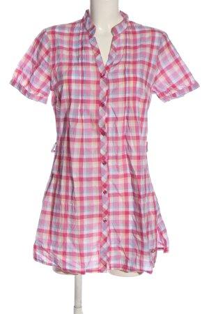 Lisa Tossa Shirt met korte mouwen geruite print casual uitstraling