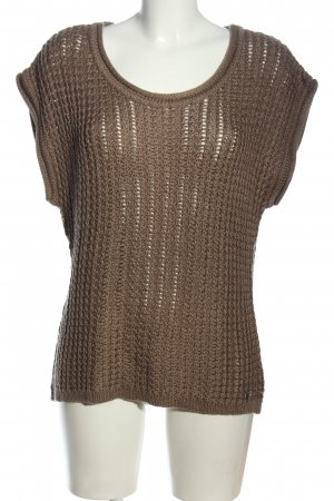 Lisa Tossa Pull à manches courtes brun style décontracté