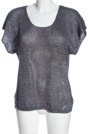 Lisa Tossa Pull à manches courtes gris clair style décontracté