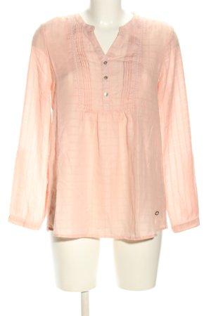 Lisa Tossa Langarm-Bluse pink Streifenmuster Casual-Look