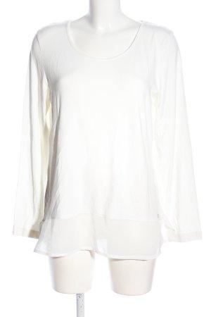 Lisa Tossa Langarm-Bluse weiß Casual-Look
