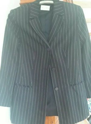 Lisa Tossa Pinstripe Suit black