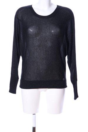 Lisa Tossa Rundhalspullover schwarz Casual-Look