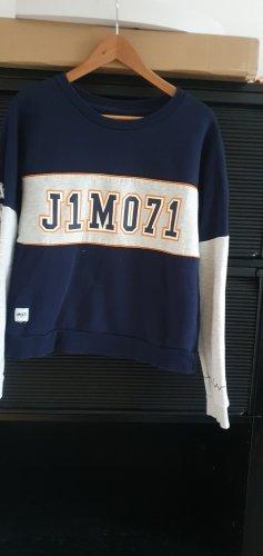 Lisa und Lena / J1MO71 Blau graues Sweatshirt mit J1MO71 Aufdruck Gr. XL