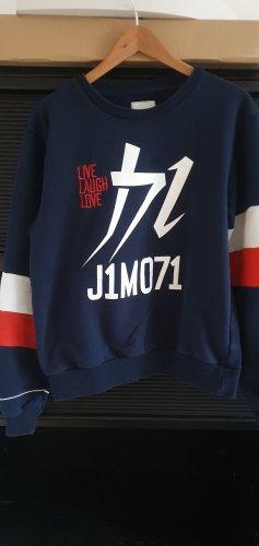 Lisa und Lena / J1MO71 Blaues Sweatshirt mit Aufdruck Gr. XL