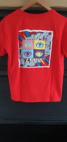 Lisa und Lena / J1MO71 Rotes T-Shirt mit Aufdruck Gr. L