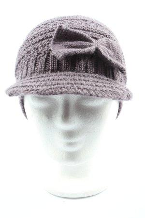Lisbeth dahl Cappello da panettiere grigio chiaro punto treccia stile casual
