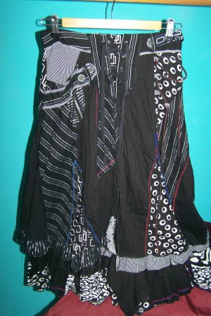 Lissa Flounce Skirt multicolored cotton