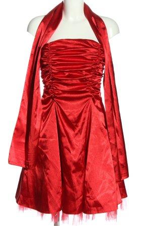 Lissa schulterfreies Kleid rot Elegant