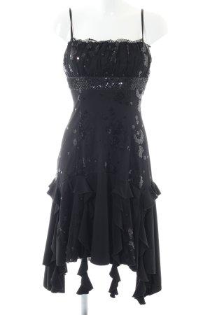 Lissa Trägerkleid schwarz Glitzer-Optik