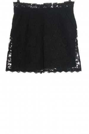 List Lace Skirt black casual look