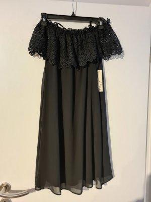 Eliza J. Vestido strapless negro