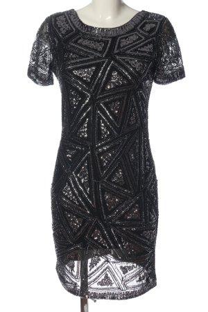 Little Mistress Abendkleid schwarz-silberfarben Elegant