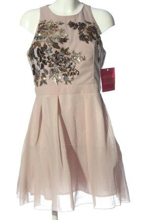 Little Mistress Abendkleid wollweiß-bronzefarben Blumenmuster Elegant