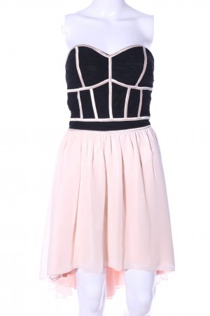 Little Mistress Bustier Dress black-pink business style