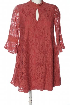 Little Mistress Cocktailkleid rot grafisches Muster Casual-Look