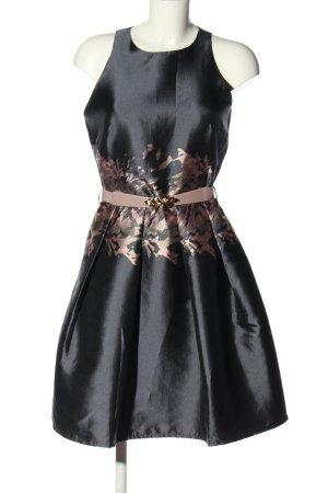 Little Mistress Cocktailkleid schwarz-wollweiß abstraktes Muster Elegant
