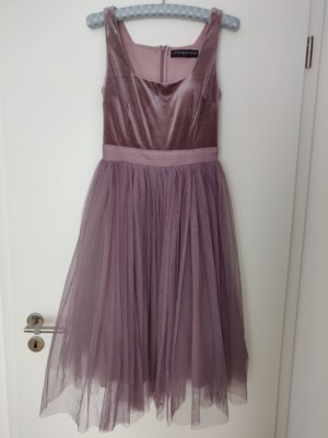 Little Mistress Damen Velvet and Tulle Dress Kleid 38