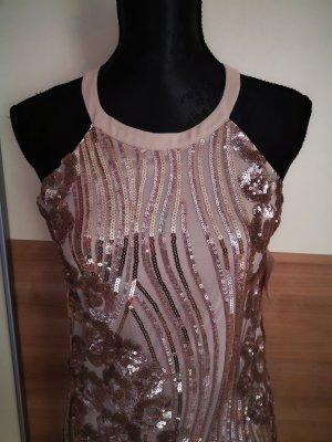Little Mistress Sequin Dress rose-gold-coloured-dusky pink
