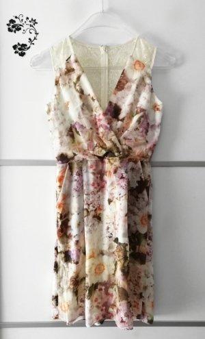 Little Mistress Kleid mit Blumenmuster & Spitze Gr. 36