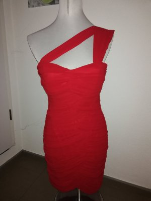 Little Mistress One Shoulder Dress red