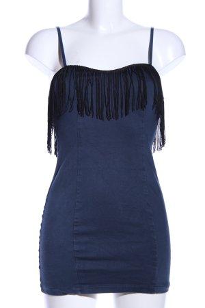 Little Mistress Top lungo blu-nero stile casual