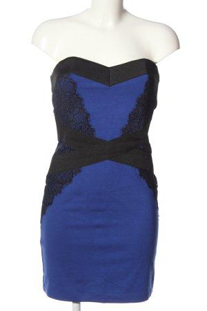 Little Mistress schulterfreies Kleid blau-schwarz Elegant