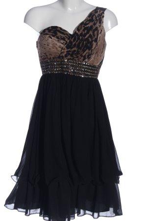 Little Mistress Abendkleid schwarz-goldfarben Animalmuster Elegant