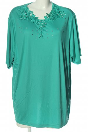 Little Rose Oversized Blouse turquoise casual look
