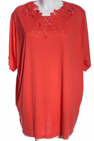 Little Rose Oversized Blouse red casual look