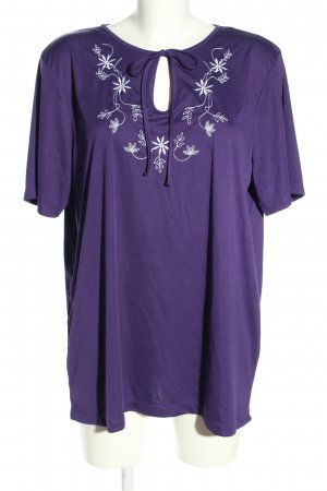 Little Rose T-Shirt lila Blumenmuster Casual-Look