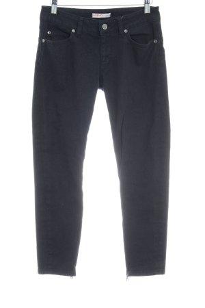 Liu jeans Skinny Jeans schwarz-goldfarben Casual-Look