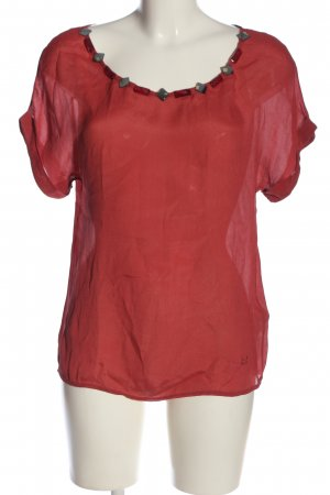 Liu jeans Transparenz-Bluse rot Casual-Look