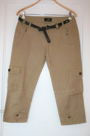 Liu jo 3/4 Length Trousers olive green-khaki cotton