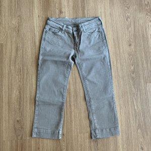 Liu jo 3/4 Length Trousers sage green-grey cotton