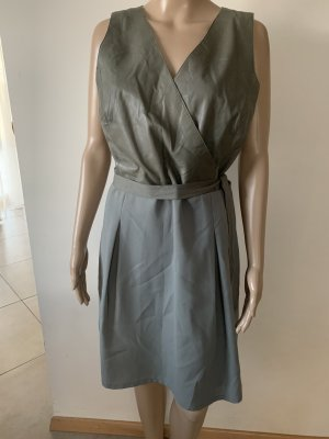 Liu jo Leather Dress khaki