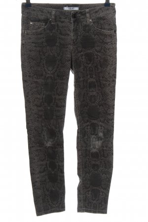 Liu jo 7/8 Length Trousers light grey-black allover print casual look