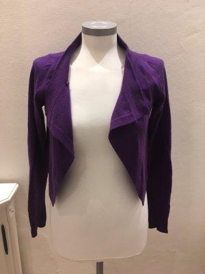 Liu Jo Bolero Weste Jacke lila violett Wolle 36 S