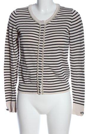 Liu jo Cardigan blanc-noir motif rayé style décontracté