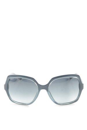 Liu jo Hoekige zonnebril blauw-zwart volledige print casual uitstraling