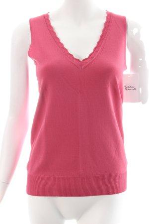 Liu jo Feinstrickpullunder pink klassischer Stil
