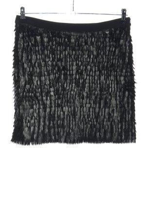 Liu jo Jupe à franges noir-gris clair style extravagant